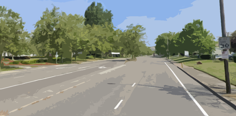 Artistic Rendering of Huntwood Avenue