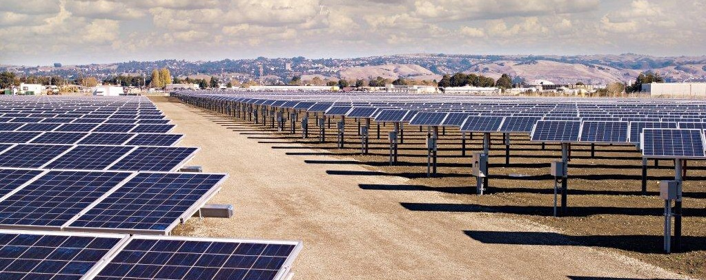 1 MW Solar panels behind WPCF