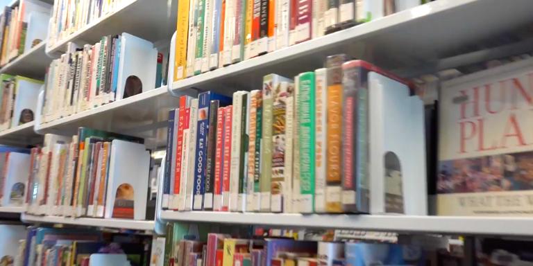 A full book shelf