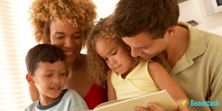 A family reading together