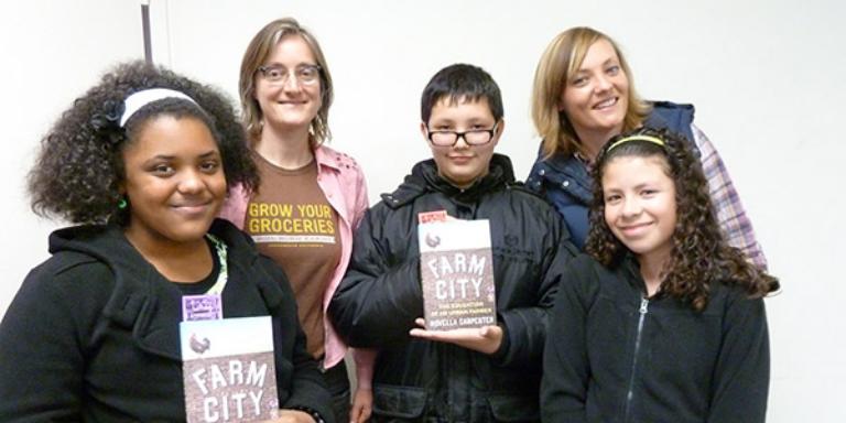 A group of teen volunteers