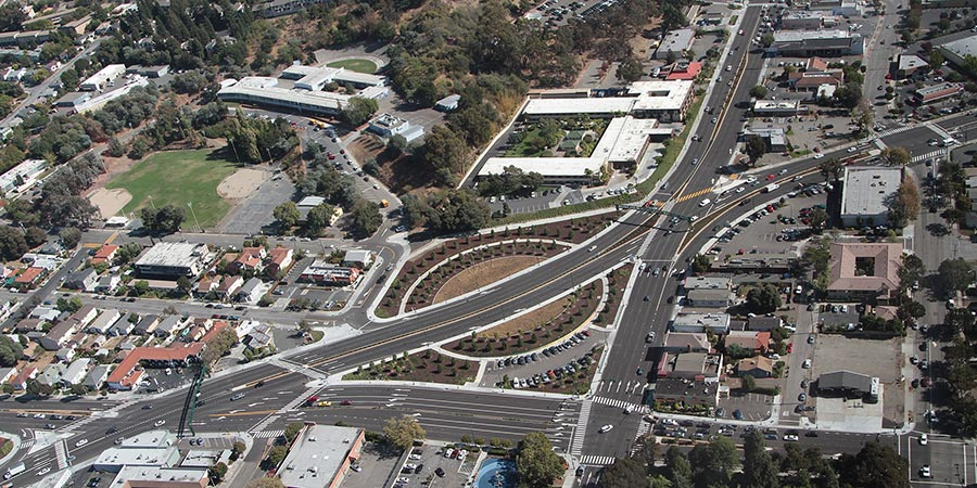 Arial view of Route 238