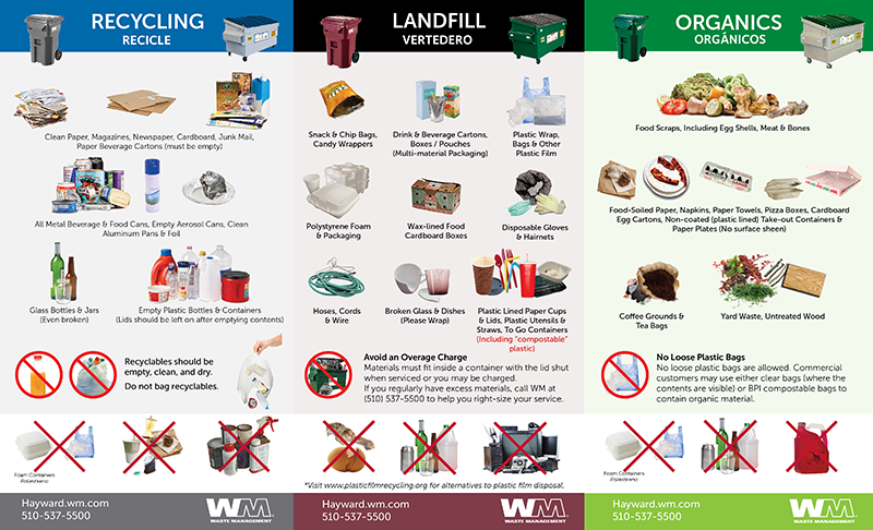 Sorting and recycling chart