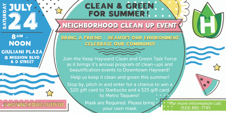 Keep Hayward Clean and Green July Cleanup Flyer