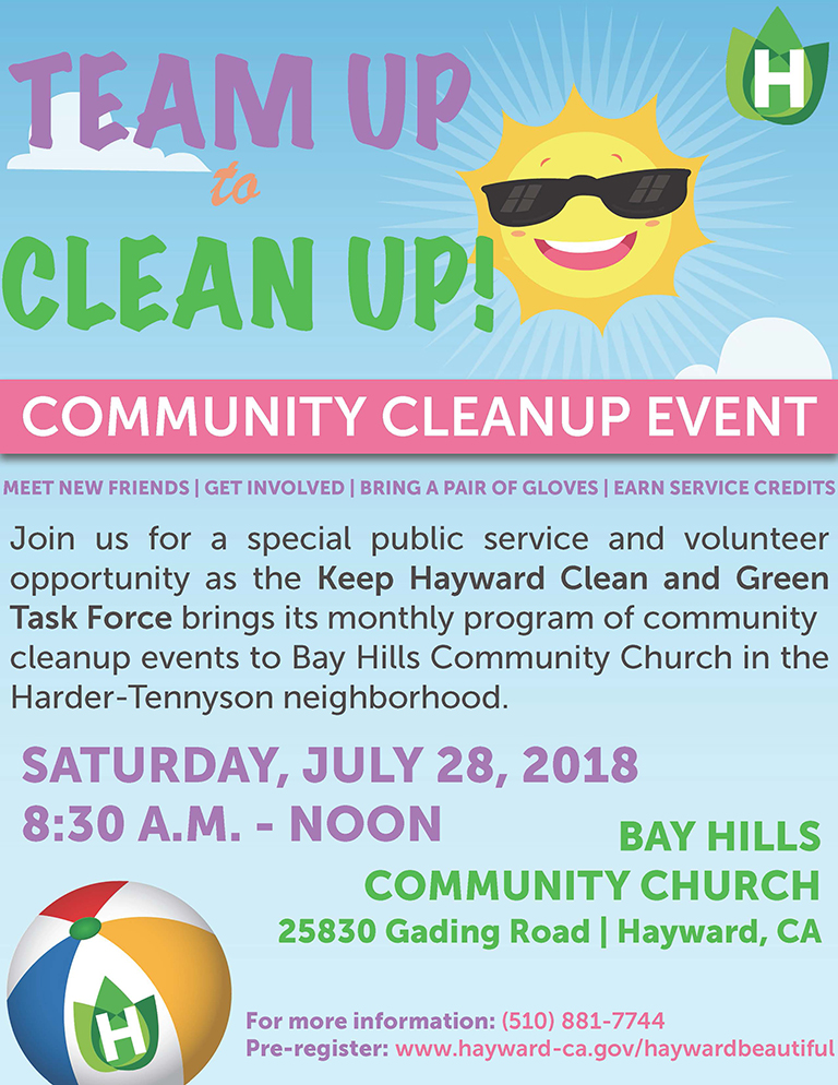 Keep Hayward Clean and Green Cleanup Event Flyer