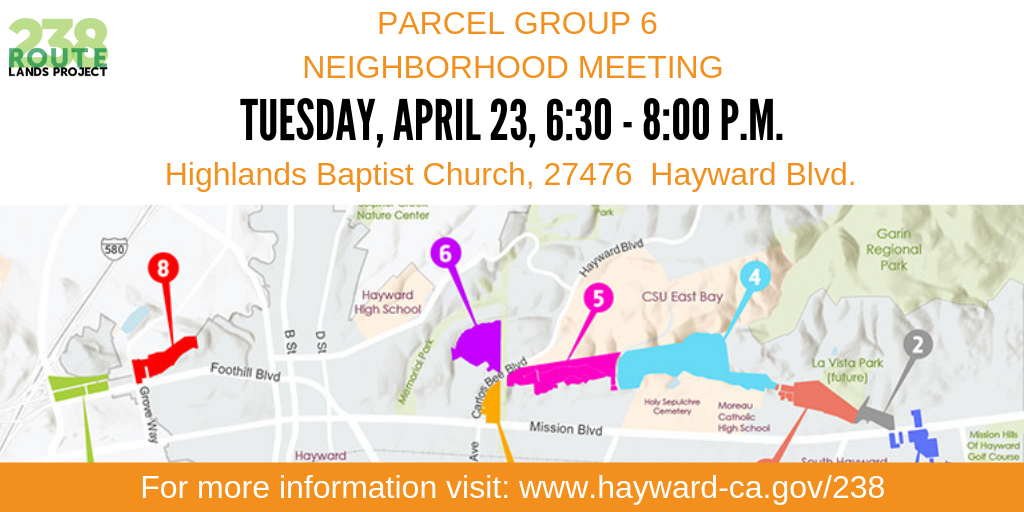 Map showing where parcel group 6 is located near Carlos Bee Blvd.