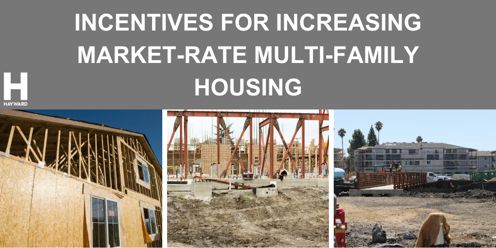 Multi-family housing in various states of construction