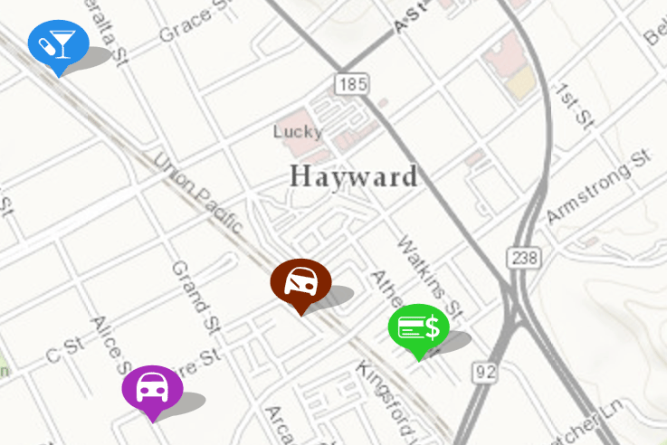 Map 0f California.Maps City Of Hayward Official Website