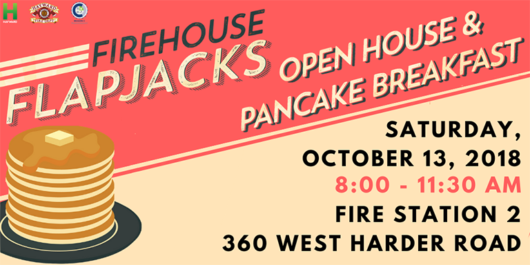 Orange-red Firehouse Flapjacks Header