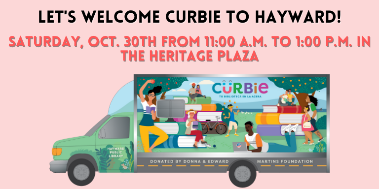 A rendering of Curbie our bookmobile