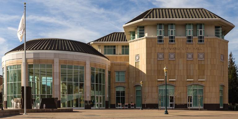 Hayward City Hall on a sunny day