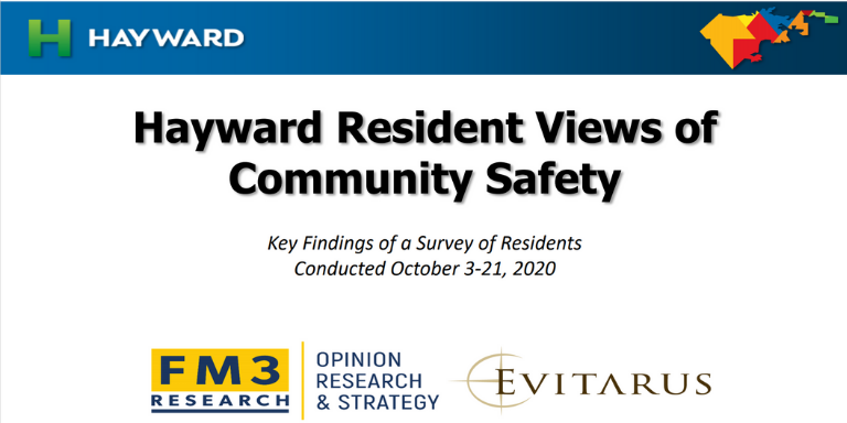 Hayward Resident Views of Community Safety