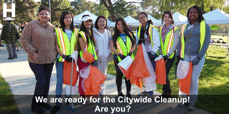 Community Members preparing for the Citywide Cleanup