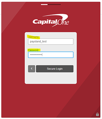 Red Capital One Screen