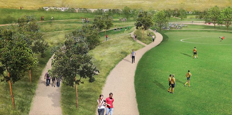 La Vista Park Sports Field and Garden Paths