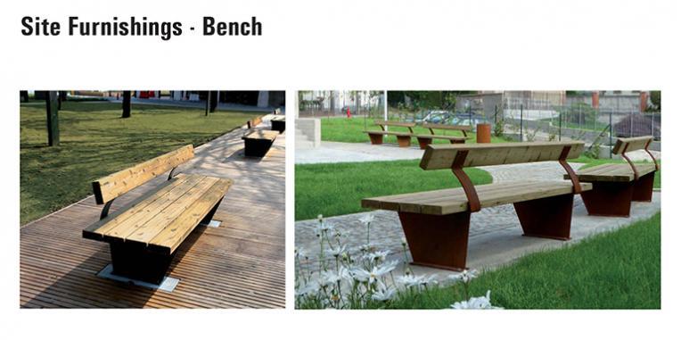 La Vista Park Site Furnishings - Benches