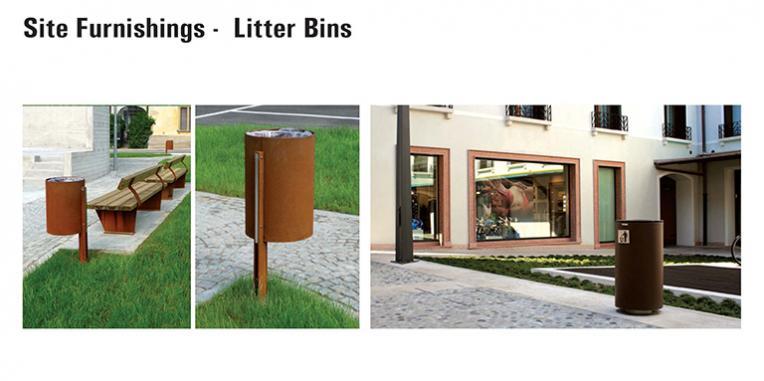 La Vista Park Site Furnishings - Litter Bins