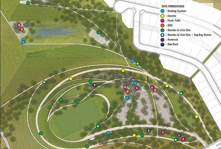 La Vista Park site furnishings