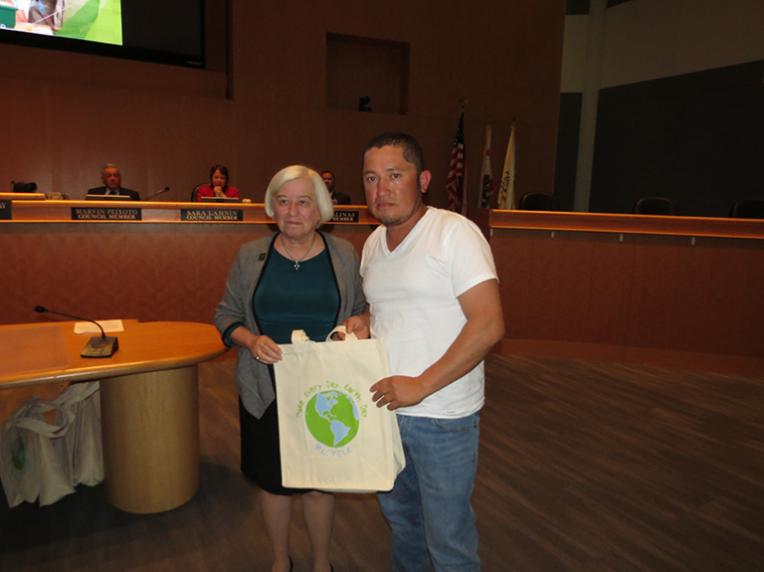 Jose Pimentel, Hayward Resident recognized for his exceptional participation in the City's recycling program