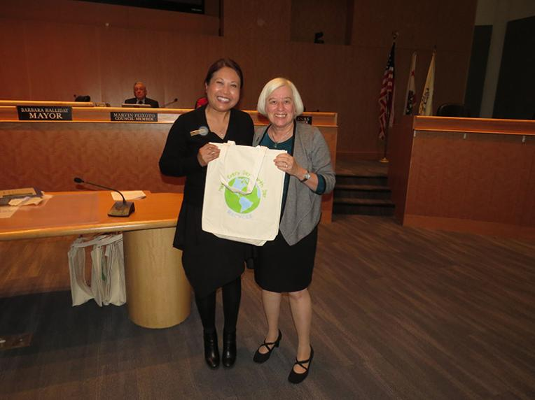 Janie Yang, Manager, City Centre Apartments, located at 22800 Meridian Drive, recognized for exemplary implementation of her recycling programs (Multi Family)