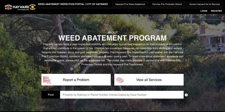 Screenshot of annual vegetation survey inspection sorftware