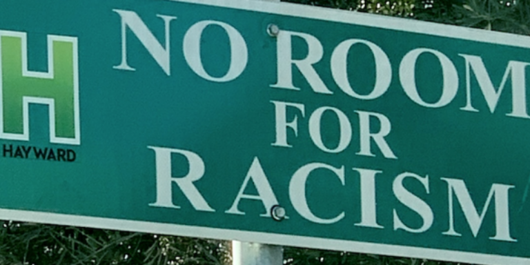 City of Hayward No Room For Racism Sign