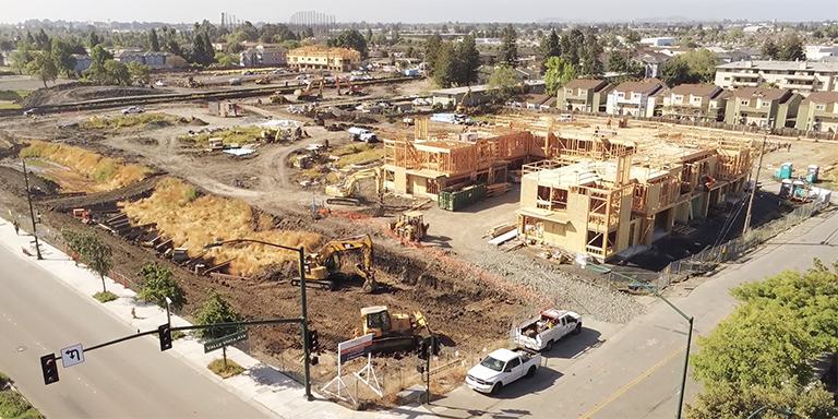 Housing being built on the corner of Valle Vista Ave and Mission Blvd.