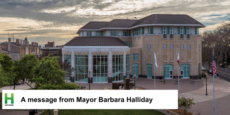 Hayward City Hall At Sunset
