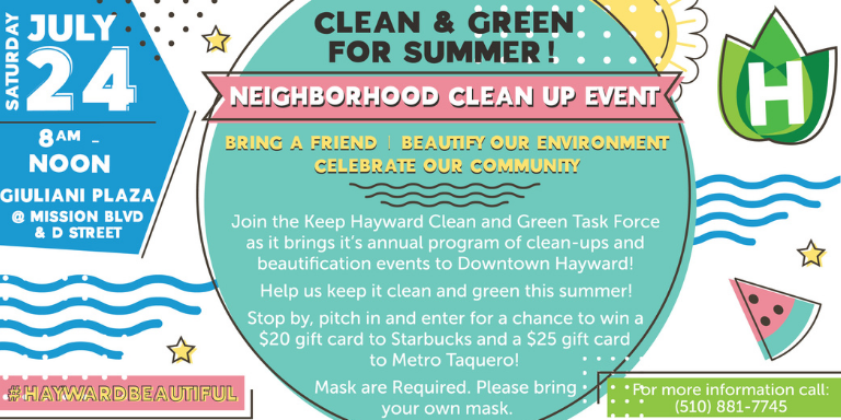Keep Hayward Clean and Green Event Flyer