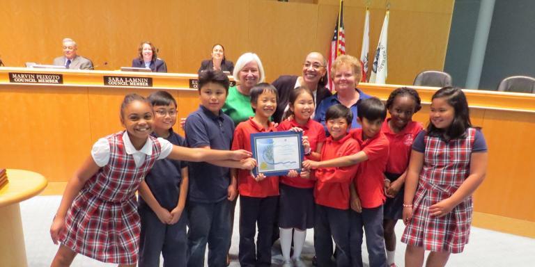 Lea's Christian School receives a 2016 City of Hayward Environmental Award